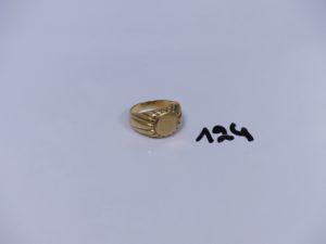 1 Chevalière en or (Td54). PB 7,7g