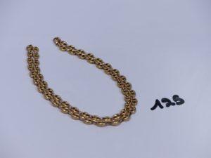 1 chaîne maille grain de café en or (L46cm). PB 12,9g