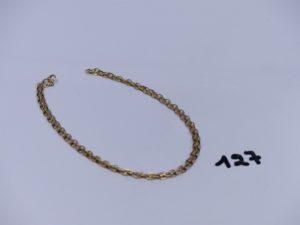 1 chaîne maille alternée en or (L46cm). PB 6,5g