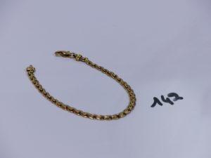 1 bracelet en or maille festonnée (L17cm). PB 6,5grs