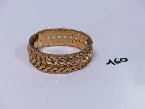 1 bracelet souple maille articulée en or (L19cm). PB 34,4g