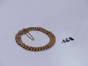 1 bracelet maille américaine usée en or (L18cm). PB 13,4g