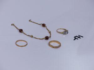 1 lot casse or , perles et petites pierres. PB 10,3g