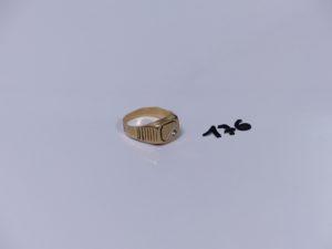 1 chevalière en or ornée d'une petite pierre (Td63). PB 4,2g
