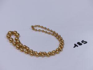 1 collier boules en or (L42cm). PB 18,5g