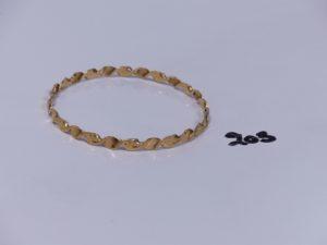 1 bracelet rigide et ouvragé en or (diamètre 7cm). PB 13,4g