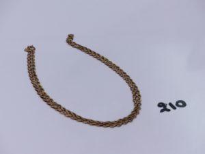 1 chaîne maille articulée en or (L54cm). PB 6,9g
