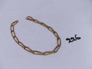 1 bracelet maille alternée en or (L25cm). PB 18g