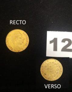 1 Pièce de 20fr Napoléon III année 1857.PB 6,4g