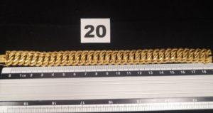 1 Bracelet en or maille americaine (L 19cm). PB 29,5g