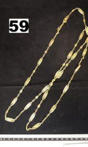 1 Sautoir en or maille filigranée (L 122cm). PB 39,9g