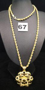 1 Sautoir en or maille corde (L 74cm) . PB 13,7g