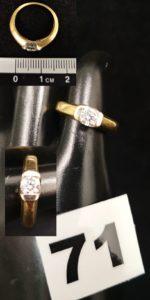 1 Bague en or ornée d'un diamant (TD 48). PB 4g