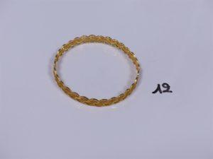 1 bracelet rigide et ouvragé en or 22K (diamètre 6,5cm). PB 16,7g