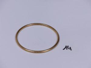 1 bracelet jonc en or (diamètre 7cm). PB 33,8g