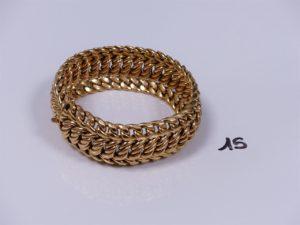 1 bracelet en or maille américaine (L21,5cm). PB 58,4g