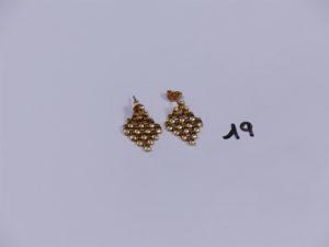 2 pendants en or maille en damier. PB 4,4g