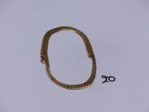 1 collier maille anglaise en or (L43cm). PB 10,3g