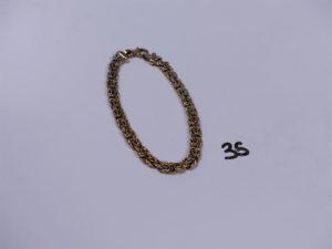 1 bracelet maille royale en or (L19cm). PB 8,4g