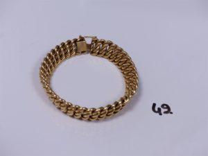 1 bracelet maille américaine en or (L18,5cm). PB 26,9g