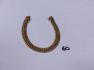 1 bracelet maille festonnée en or (L19cm). PB 10,7g