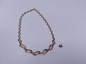 1 collier en or maille articulée (L42cm. PB 19,3g