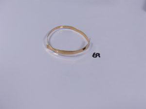 1 bracelet abîmé en or (diamètre 6cm). PB 7,4g
