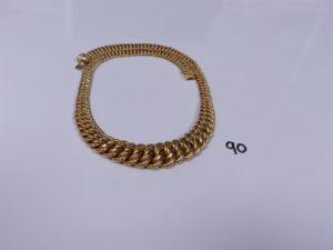 1 collier maille américaine en or (L44cm). PB 25,2g