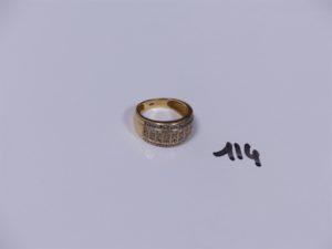 1 bague en or ornée de petits diamants (Td51). PB 5g