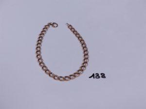 1 bracelet en or maille gourmette (L23cm). PB 15,9g