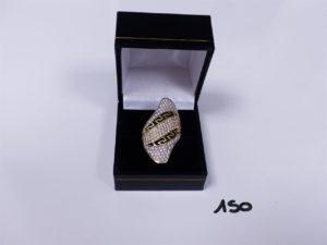 1 Bague en or ornée de pierres (Td55). PB 5,9g