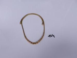 1 Collier maille palmier en or (L42cm). PB 10,8g