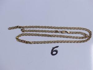 1 Chaîne en or maille marine, cassée. PB12,3g