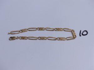1 Bracelet en or maille alternée (L24cm). PB 12,6g