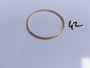 1 Bracelet jonc en or (Diamètre 7cm). PB 19,4g