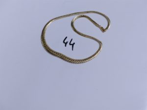 1 Collier en or maille anglaise (L45cm). PB 14,4g