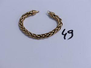 1 Bracelet en or maille palmier, trés abimé (L18cm). PB 19,1g
