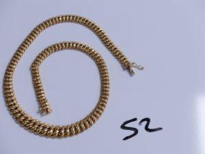 1 Collier en or maille américaine (L42cm). PB 21,3g