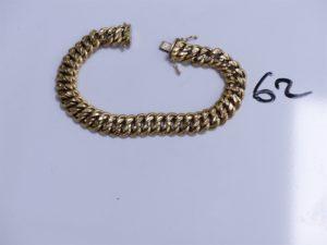 1 Bracelet en or maille américaine (L21cm). PB 23,2g