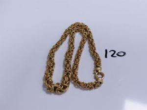 1 Collier en or maille royale (L 47cm). PB 31,3g