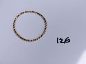 1 Bracelet jonc torsadé en or (Diamètre 7cm). PB 20,5g