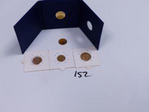 5 Pièces en or (2 de 10Frs NAP III 1860,1859)(1 de 20Frs RF 1914)(1 de 5Frs NAP III 1858)(1 de 200Euros RF 2011). PB 18,5g